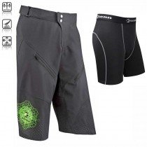 Tenn outdoors Mens Breeze MTB/Off Road 3/4 Length Shorts + Coolflo Boxers Combo