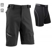 Tenn outdoors Mens Off Road Combat Cycling Shorts + Padded Boxers Combo