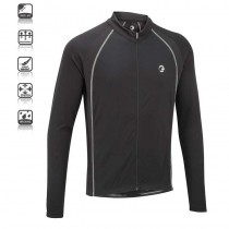 Tenn Outdoors Mens Sprint Long/Sleeve Cycling Jersey  - Black